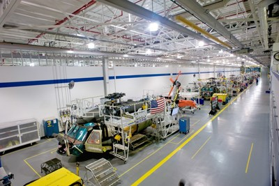 Black Hawk production line at Sikorsky's Florida Assembly and Flight Operations center