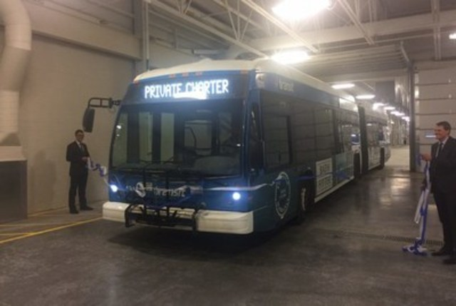 Saskatoon's new Civic Operations Centre relocates the City's Transit Operations and houses its first permanent Snow Management Facility. The project reached substantial completion on December 31, 2016. (CNW Group/Fengate Capital Management)