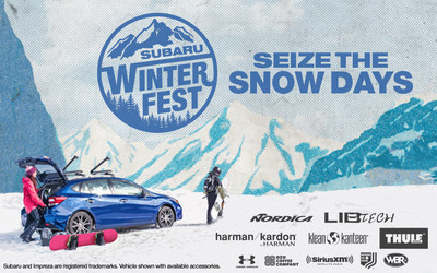 #SeizeTheSnowDays: Subaru WinterFest Lifestyle Tour Celebrates Winter Adventure; Mountain destination and lifestyle tour from Subaru bring together winter warriors across the country for one-of-a-kind experience