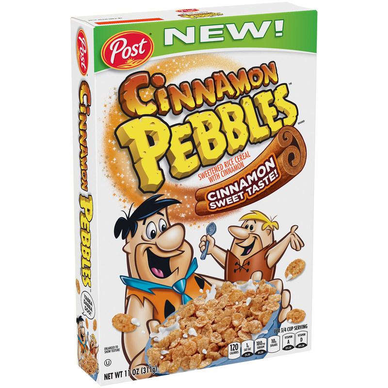 Prueba el nuevo cereal Cinnamon Pebbles y comienza el ano nuevo con el dulce sabor a canela (PRNewsFoto/Post Consumer Brands)