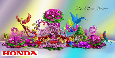 """Hope Blooms Forever"" float will lead the 2017 Rose Parade(R)."