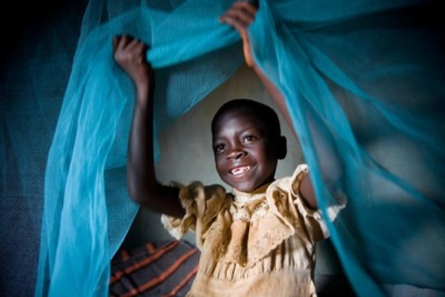 Linet Atieno is healthy and energetic because she sleeps under an insecticide treated mosquito net, which protects her from malaria. UNICEF Survival Gifts are real gifts with real impact that help children in 140 countries survive and thrive. © UNICEF/UNI174109/Hallahan (CNW Group/UNICEF Canada)