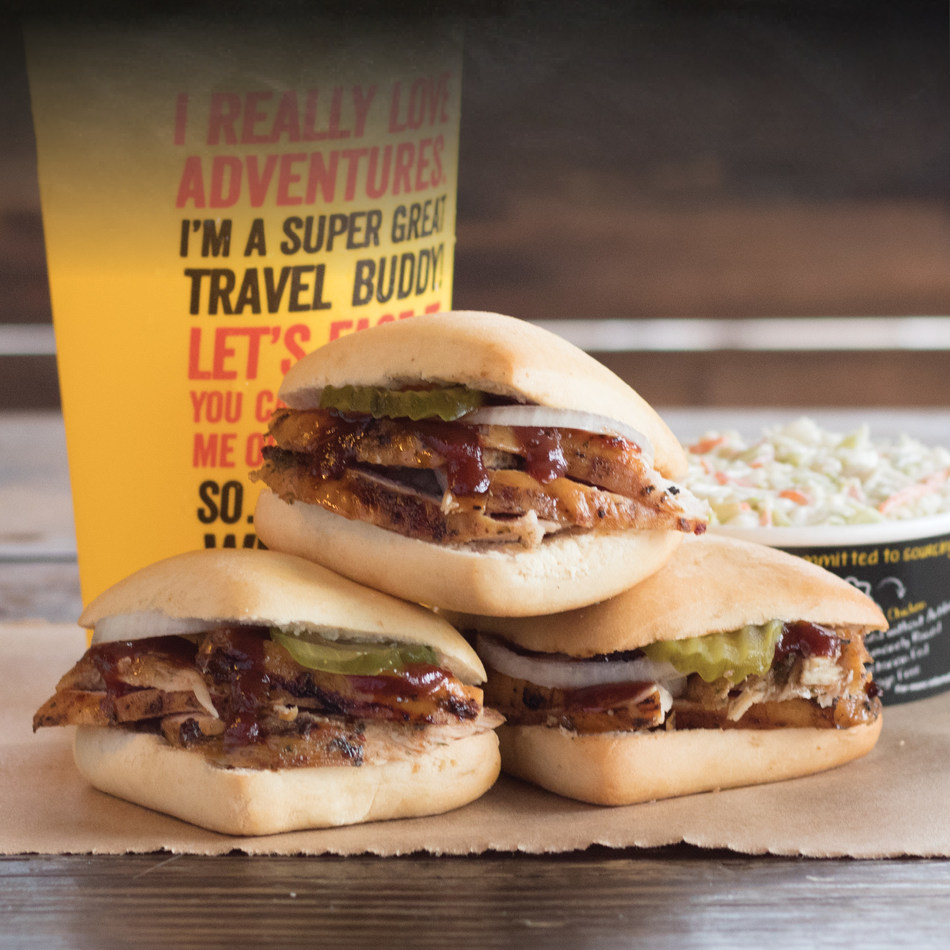 Beginning in January Dickey's is offering $2 Chicken Sliders to help guests in their fight against the Holiday Hangover.