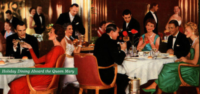 With her decks awash in Christmas trees and holiday garlands, the holiday spirit can be found everywhere aboard.  The Queen Mary in Long Beach offers a unique setting for holiday entertaining and celebrations!