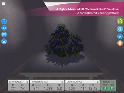 A Highly Advanced 3D Simulator for Growing Cannabis