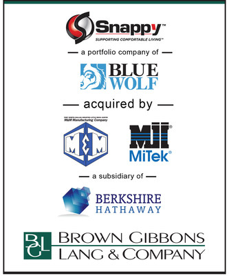 Brown Gibbons Lang & Company (BGL) is pleased to announce the sale of Snappy Co. (Snappy), a portfolio company of Blue Wolf Capital Partners, to M&M Manufacturing, a subsidiary of MiTek Industries, which is owned by Berkshire Hathaway (NYSE:BRK.A). BGL's Industrials and Building Products team served as the exclusive financial advisor to Snappy in the transaction. Snappy is a leading branded manufacturer and supplier of galvanized pipe, duct, and fittings for the residential HVAC market.