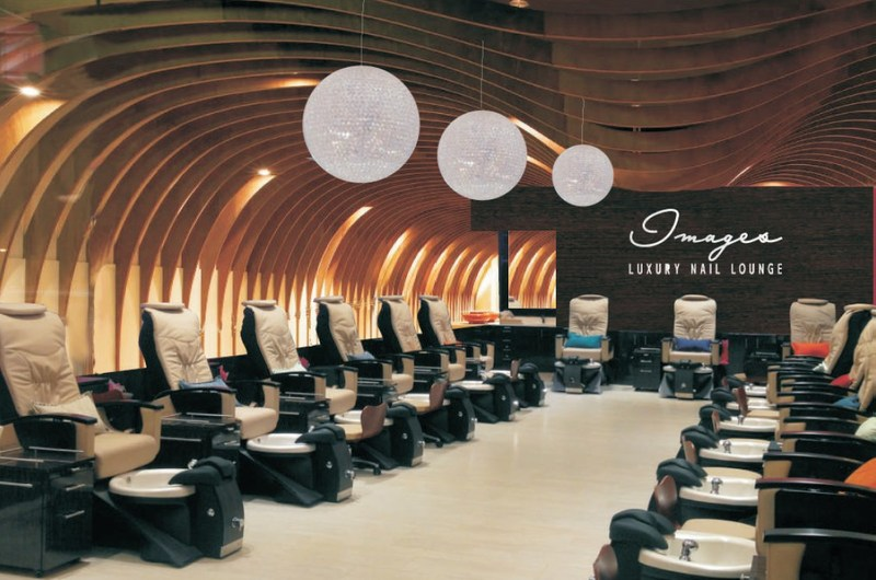 Artist's rendering of new contemporary decor for Images Luxury Nail Lounge's Woodbury Town Center, Irvine location.