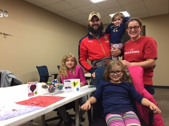 During a recent Wounded Warrior Project(R) (WWP) outreach event, injured veterans and their families added a personal touch to their holiday decorations by designing cards and ornaments.