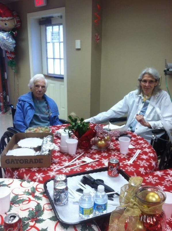 Lucille and her daughter enjoyed a catered lunch and each others company!