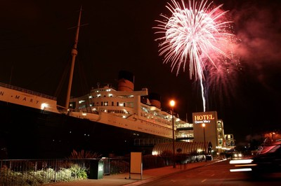 The Queen Mary's Annual NYE Fireworks Display