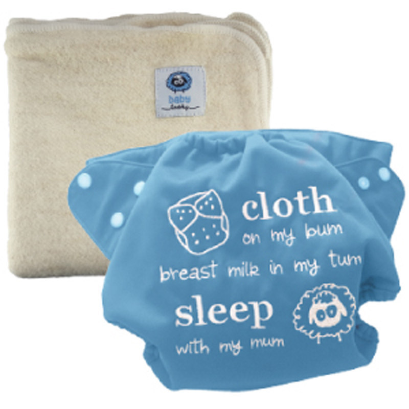 Hemp cloth diaper and waterproof diaper cover from babytooshey.com