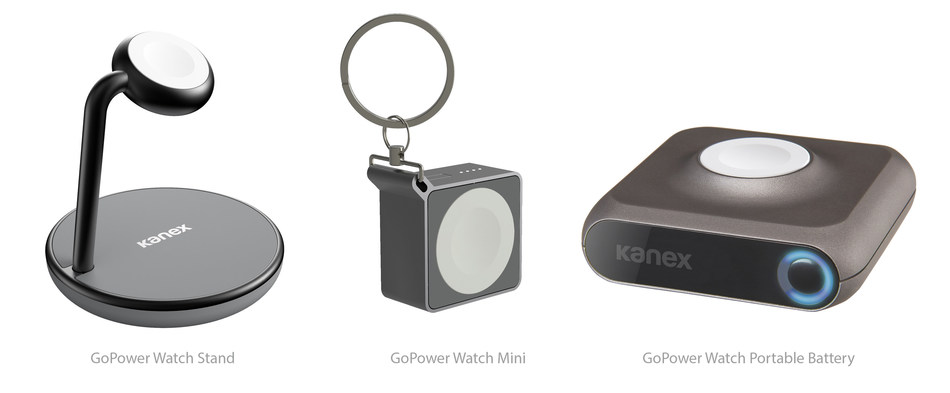 The GoPower Watch Stand, a magnetic charging stand, and the GoPower Watch Mini, a portable keychain battery, are Kanex's newest members to its growing line of GoPower Apple Watch accessories.