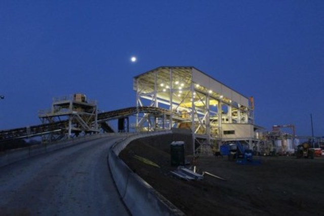 Figure 1 – Haile Gold Mine Grinding Circuit at Night (CNW Group/OceanaGold Corporation)