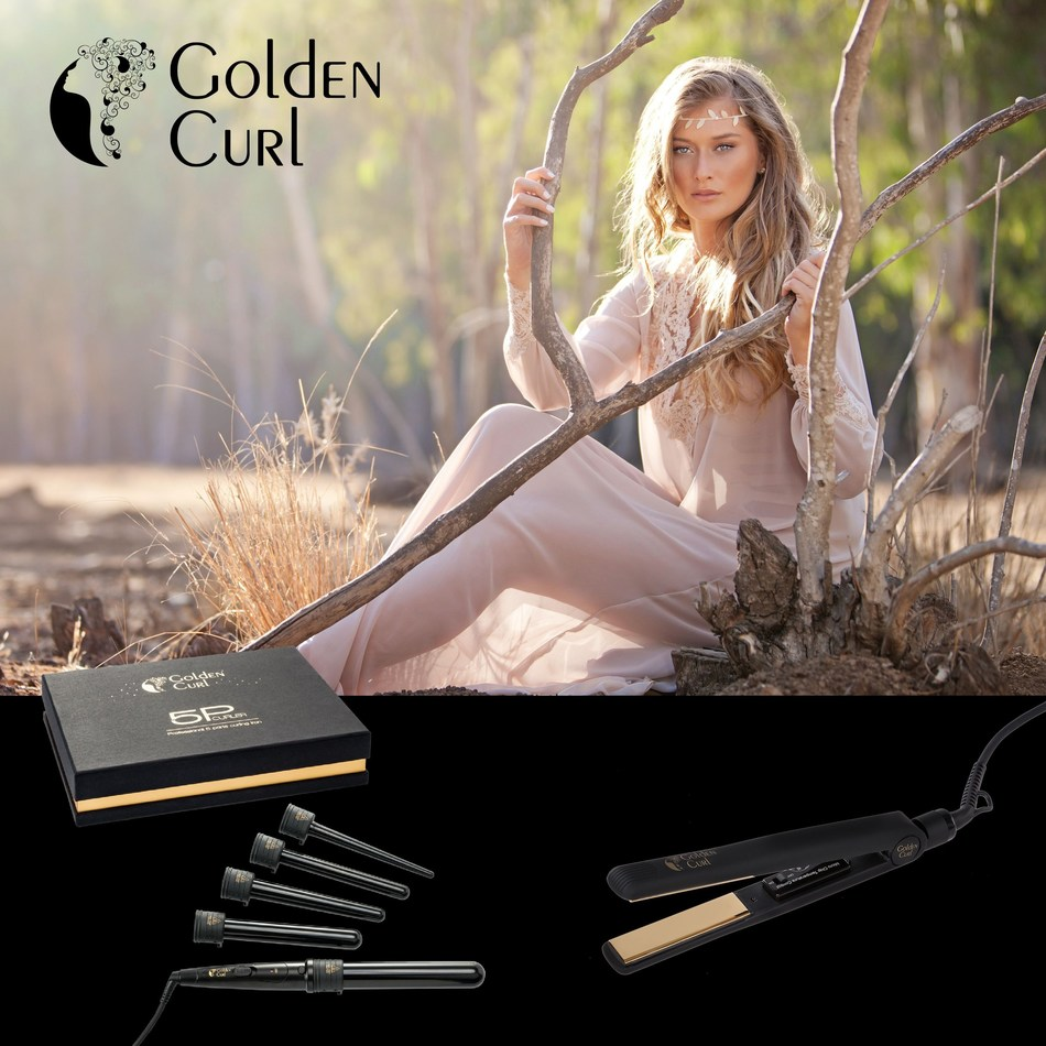 Golden Curl: The Luxury Brand Launches Their New Generation of Luxury Hair Styling Tools (PRNewsFoto/Golden Curl)