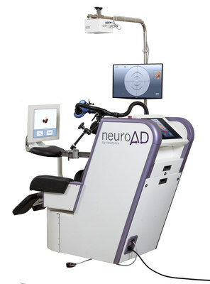 Neuronix announced positive results from its pivotal, double-blind placebo-controlled, multi-center clinical study, for the assessment of safety and efficacy of the neuroAD Therapy System, in the treatment of mild to moderate Alzheimer's disease. Neuronix has filed a U.S. FDA application seeking regulatory clearance to market neuroAD for treatment of Alzheimer's. If approved, the neuroAD Therapy System would be the first medical device ever cleared by the FDA for treatment of Alzheimer's. (PRNewsFoto/Neuronix Ltd.)