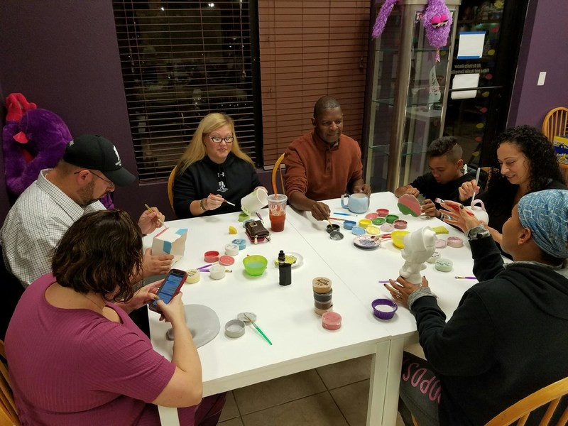 During a recent Wounded Warrior Project(R) (WWP) outing to ClayZ Arts, injured veterans and family members took a break from the hectic pace of the holiday season and gathered for a ceramics painting session.