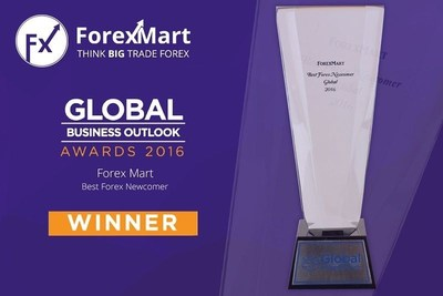 ForexMart has won as the Best Forex Newcomer of the year in the latest Global Business Outlook Awards. (PRNewsFoto/ForexMart)