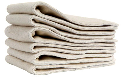 Hemp cloth diapers are more absorbent than cotton, and hemp is among the most sustainable crops currently in use for fabric production