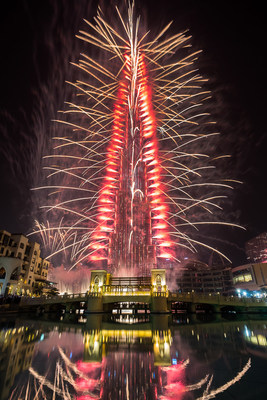 Dubai dazzles the world with the New Year's Eve Gala at the iconic Burj Khalifa.