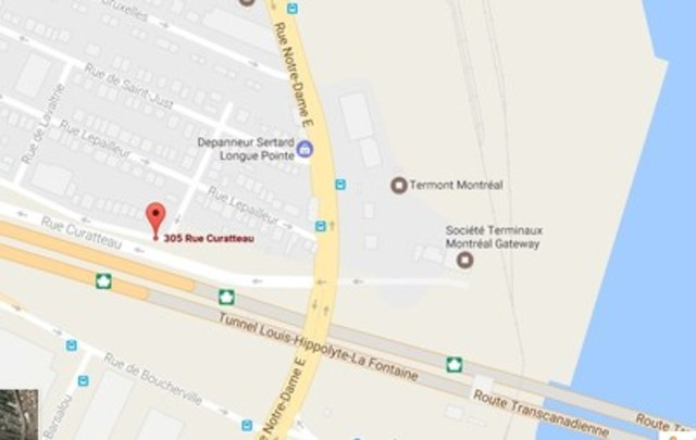 305 Currateau Street, Montreal (H1L 6R6) (CNW Group/PORT OF MONTREAL)