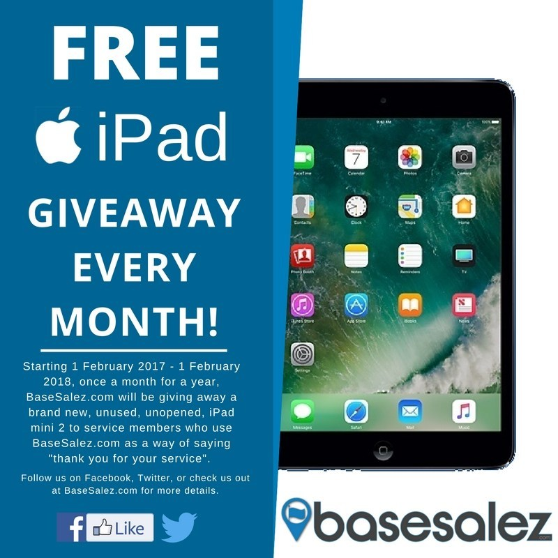 Base Salez Online Military Yard Sales Free Monthly iPad Giveaway