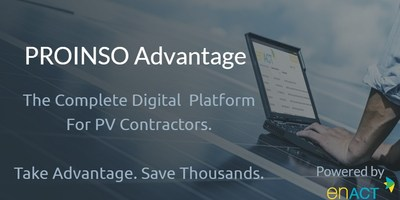 PROINSO are now accepting 'early bird' pre-registrations for the new Advantage digital platform for PV contractors.