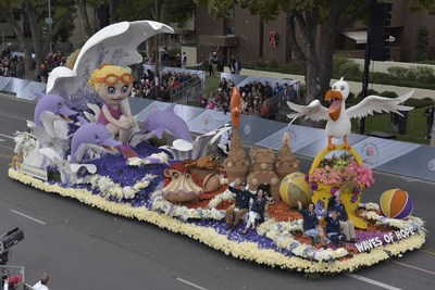 "Northwestern Mutual's ""Waves of Hope"" float was awarded the Animation Trophy at the 128th Rose Parade presented by Honda in Pasadena, Calif. The award recognizes the best display of animation."