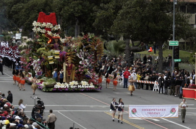 Dole Packaged Foods' 2017 Rose Parade Float 'Spirit of Hawaii' took home the coveted Sweepstakes Trophy for its outstanding floral presentation and design. Dole Packaged Foods holds the record in the Tournament of Roses Parade for the most Sweepstakes Trophy wins, having won the award six out of the seven times it has participated. The float honored Dole Packaged Foods' Hawaiian heritage, commitment to preserving natural resources and dedication to packaging fresh, healthy, non-GMO fruits.