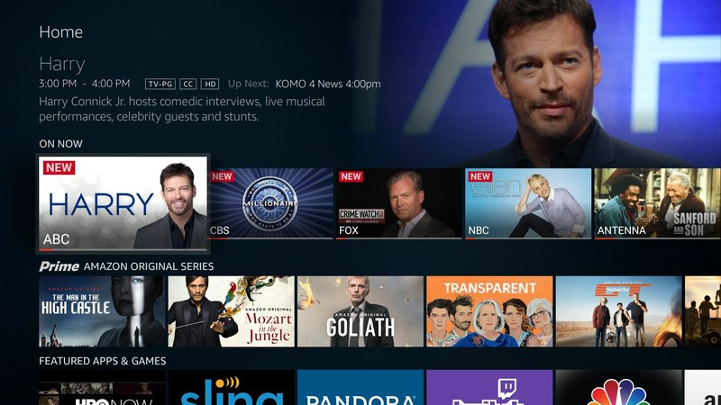 Fire TV Edition Live TV user interface