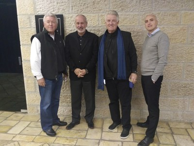 Pastor Jack Graham visited the Friend of Zion museum on his recent Trip to Jerusalem. In this picture: Pastor Jack Graham, Jerry Frazer (tour operator), Shmulik Smaja (tour operator) and Ilan Scolnik (director of marketing and sales FOZ museum)
