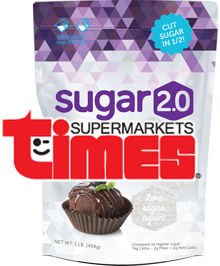 Sugar 2.0 comes to 24 stores across the Aloha State via the Times Supermarkets and its subsidiaries.