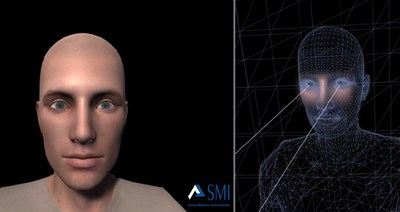 The SMI Social Eye enables true human connection between avatars in virtual worlds through expressive, accurate eye contact (PRNewsFoto/SensoMotoric Instruments GmbH)