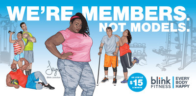 Blink Fitness launches 2017 ad campaign featuring real gym members
