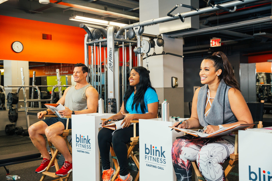 Blink Fitness launches 2017 ad campaign featuring real gym members. (From L to R) Former NFL punter Steve Weatherford, Blink Fitness personal trainer Sabine Milien, and actress Dascha Polanco