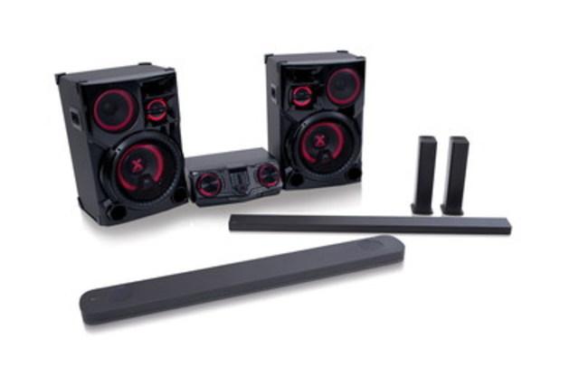 Des barres de son dotées de la technologie Dolby Atmos(MD) jusqu'aux haut-parleurs conçus pour faire la fête, LG offre des appareils qui plairont à tous les audiophiles en 2017 (Groupe CNW/LG Electronics Canada)