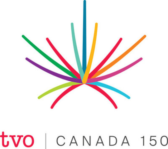 TVO's Canada 150 logo, vertical (CNW Group/TVO)
