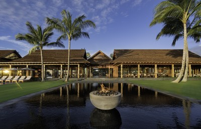 Front lawn of Kohanaiki Clubhouse & Spa on the Big Island of Hawaii.