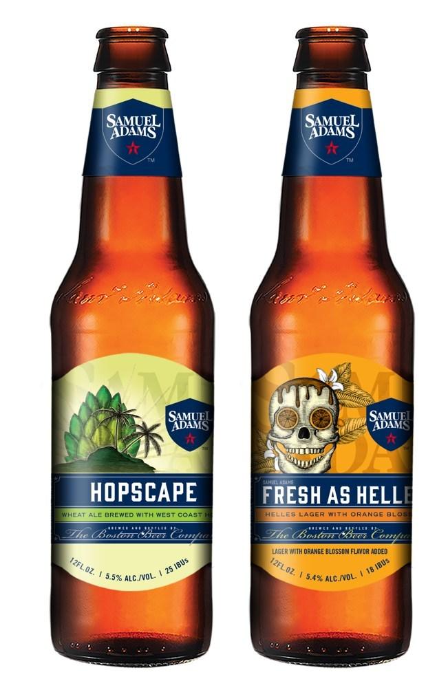 Samuel Adams Hopscape and Fresh as Helles