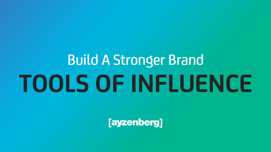 Ayzenberg Group's Tools Of Influence bring together data science and creative technology to transform data into influence for brands
