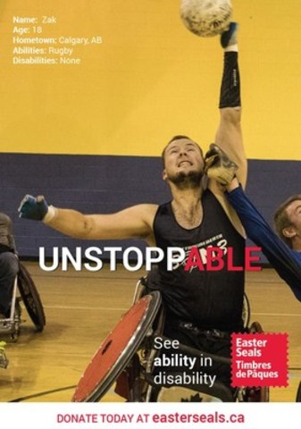 Zak Madell - UnstoppABLE! (CNW Group/Easter Seals Canada)
