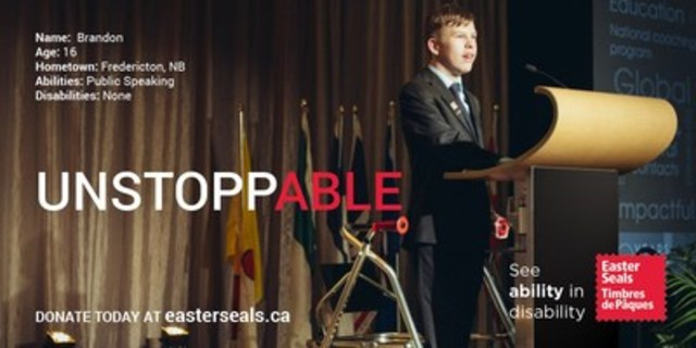 Brandon Liston - UnstoppABLE! (CNW Group/Easter Seals Canada)