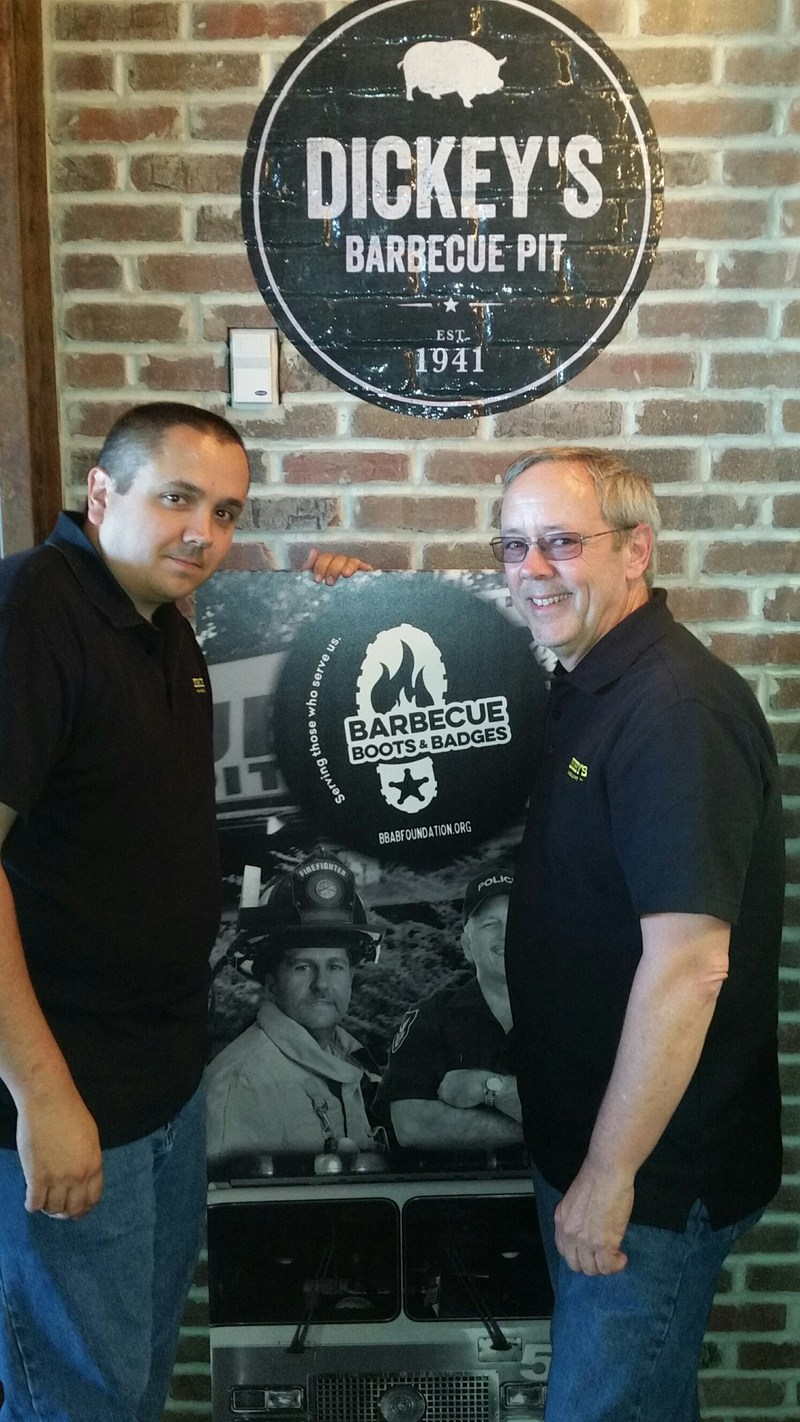 Dennis Dacheux, Sr. and Dennis Dacheux, Jr. open their second Dickey's Barbecue Pit location in York, PA.