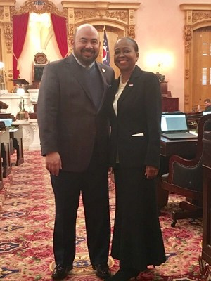 State Director for AARP Ohio, Barbara A. Sykes and Ohio House Speaker Cliff Rosenberger (R-Clarksville). Sykes and AARP Ohio praised Speaker Rosenberger for his creation of new standing committee focused on Aging & Long-Term Care during the first 2017 session of the 132nd Ohio General Assembly.