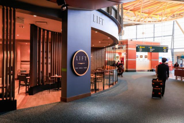 Vancouver International Airport (YVR) is ringing in the New Year with a new full-service restaurant, Lift Bar & Grill (CNW Group/Vancouver Airport Authority)