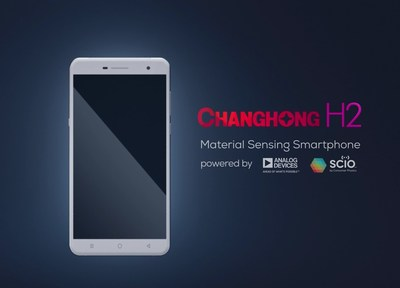 The Changhong H2, from Changhong, Analog Devices, Inc., and Consumer Physics, is the world's first smartphone with an embedded material sensor.
