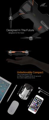 Wingsland S6 pocket drone size comparison