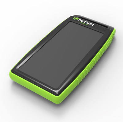 re-fuel is showcasing new mobile power and charging accessories for mobile devices and GoPros for active users during CES 2017, including the new re-fuel Waterproof Solar Charger (RF-PBSLR) dual USB ports, in 10,000 and 15,000 mAh of power providing up to 5 to 7 recharges and a convenient carrying handle.