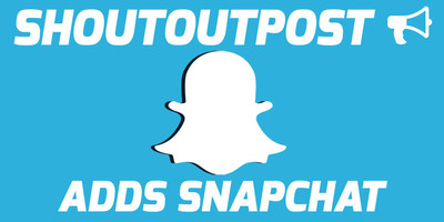 ShoutoutPost.com adds Snapchat to it's portfolio of social media networks to trade shoutouts for free.