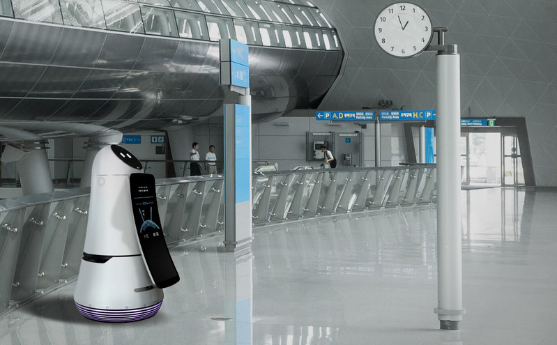 The Airport Guide Robot - soon to be seen in Seoul's Incheon International Airport - is an intelligent information assistant for travelers, answering questions in four languages: English, Chinese, Japanese and Korean.