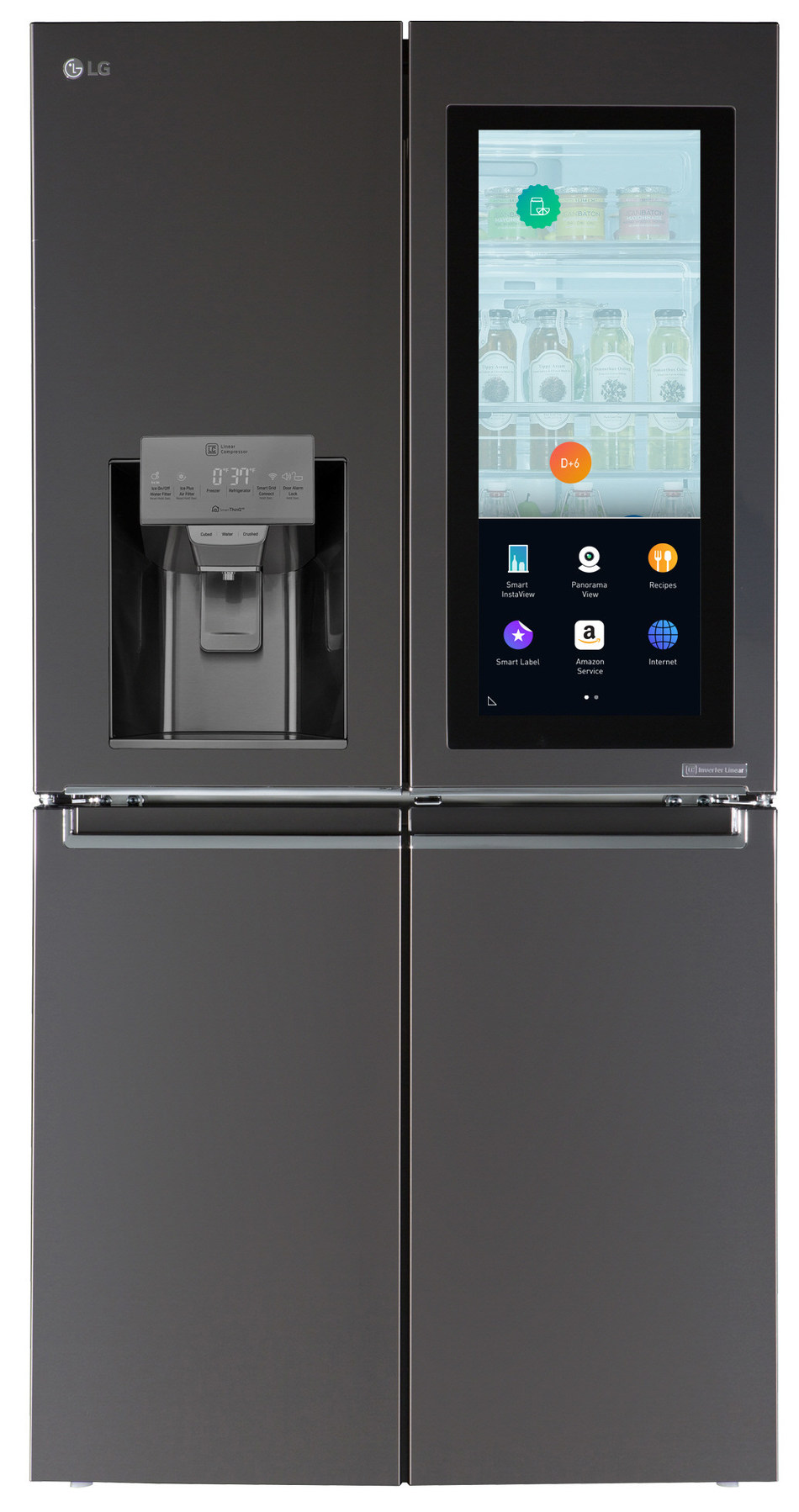 LG Electronics (LG) has introduced a new kind of refrigerator, called Smart InstaView(TM) that's embedded with an array of convenient features provided by Amazon's Alexa Voice Service and powered by LG's own webOS smart platform.